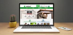 保険サービス企業のWEBサイト