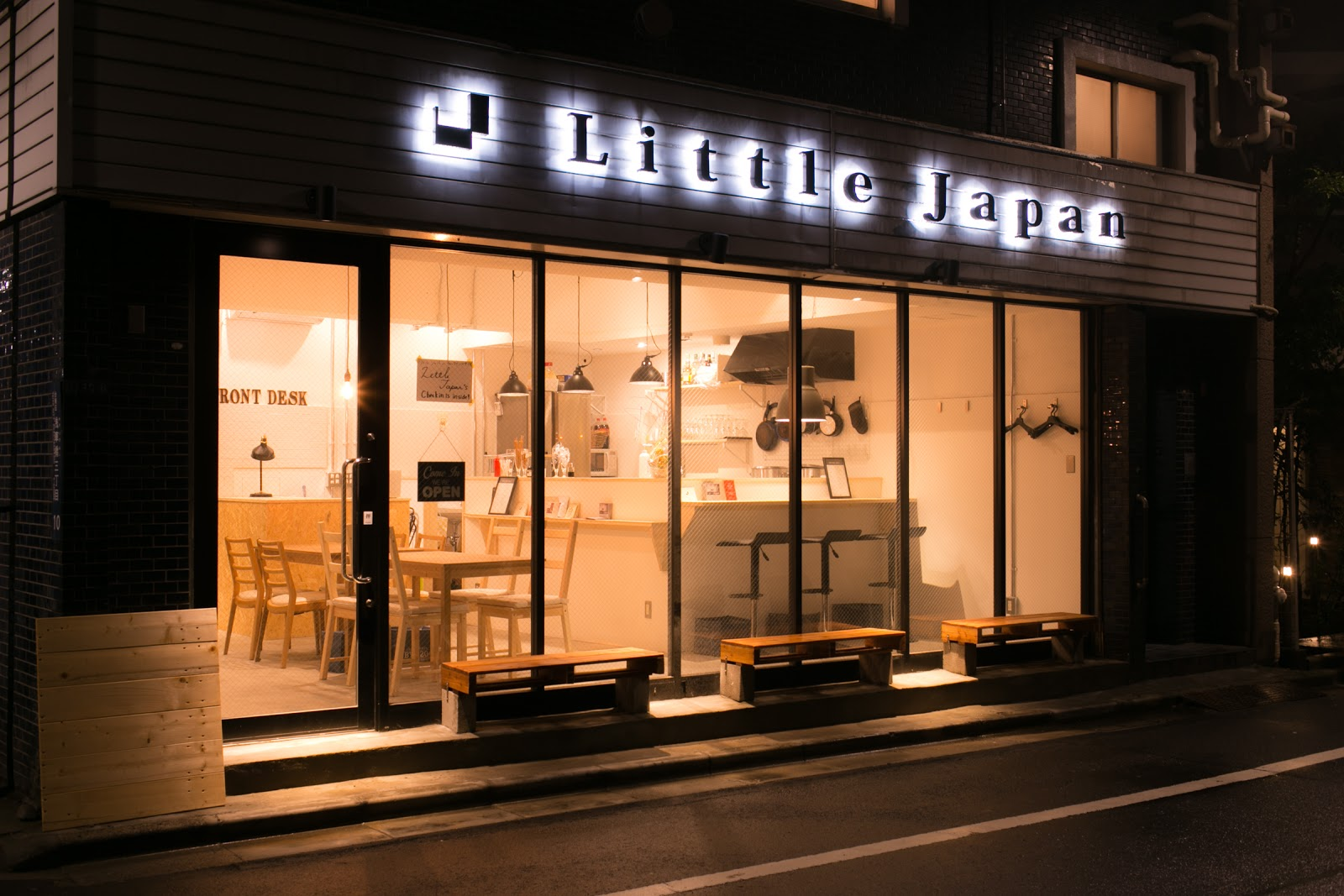 Little Japan Guesthouse Hostel & Cafe/Barにて