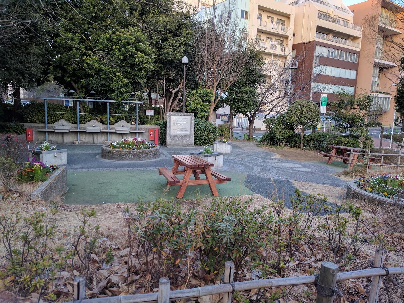 築地川公園デイキャンプ場の風景